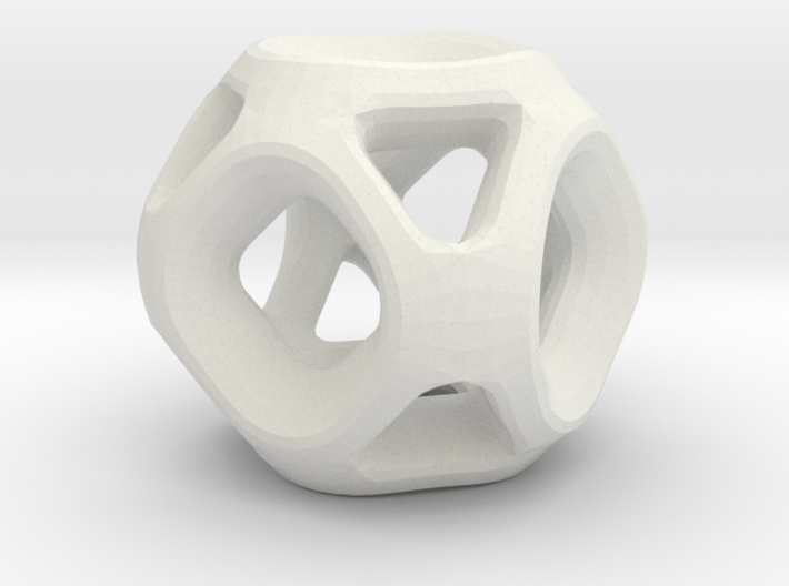 Geodesic Accent Sculpture 3d printed