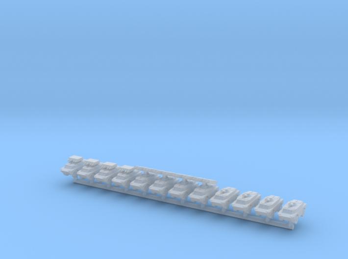 1/700 BRDM-2 Variants (x12) 3d printed