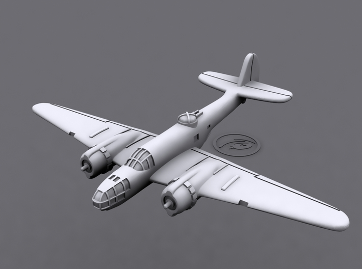 1/900 Martin 167 Maryland (x6) 3d printed 3D software render of individual aircraft