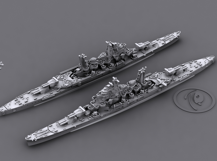 IJN CA Maya [1944] 3d printed 3D software render, aircraft not included