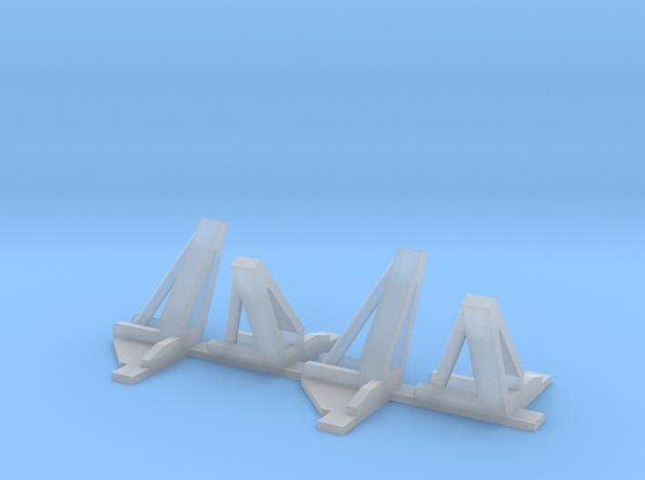 HO 1/87 NASA shuttle SRB clamshell brackets 3d printed
