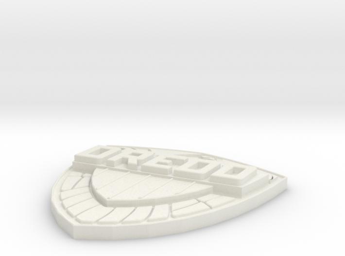 Judge Dredd shield badge - Comic version 3d printed
