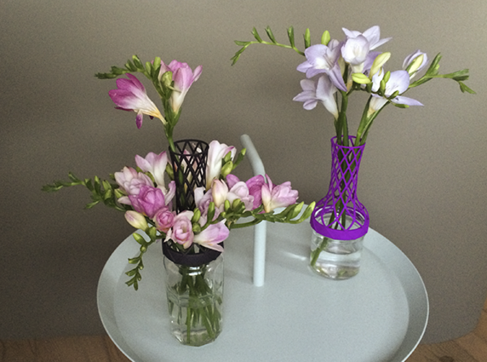 Tower Vase for jar size:70 (4 leads) 3d printed Tower Vase as playful set