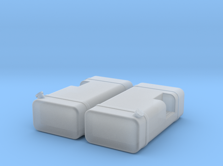 """1/64th scale 48"""" Square fuel tanks w step 3d printed"""