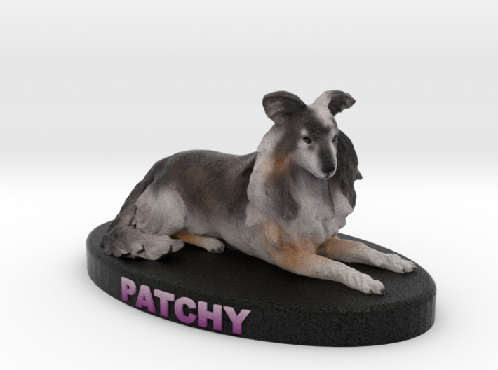 Custom Dog Figurine - Patchy 3d printed