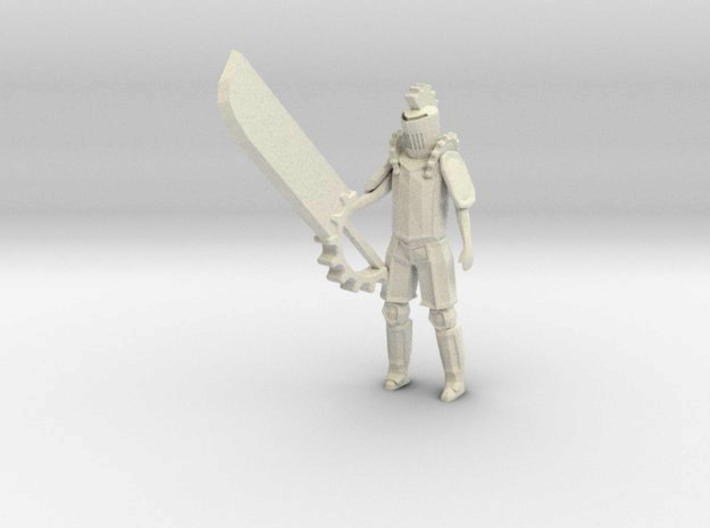 Knight of the Gears 3d printed Shapeways render, edited to show detail