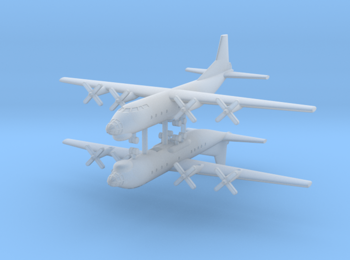 1/700 AN-12 (Cub) Transport Aircraft (x2) 3d printed