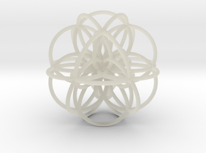 Seed of Life: Cuboctahedral Flower 3d printed