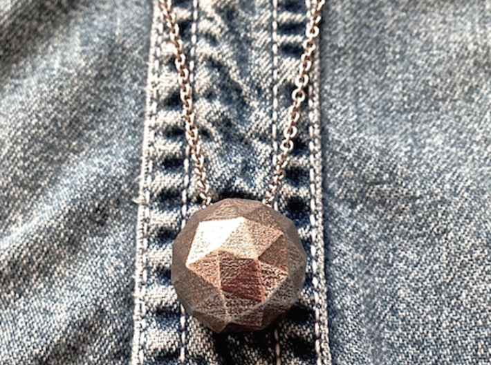 Hollow ICO Sphere Pendant 3d printed