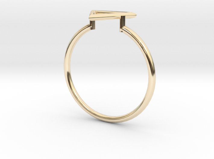 Open Triangle Ring Sz. 9 3d printed