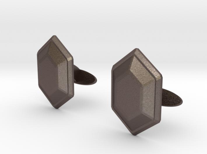 Rupee Cufflinks 3d printed