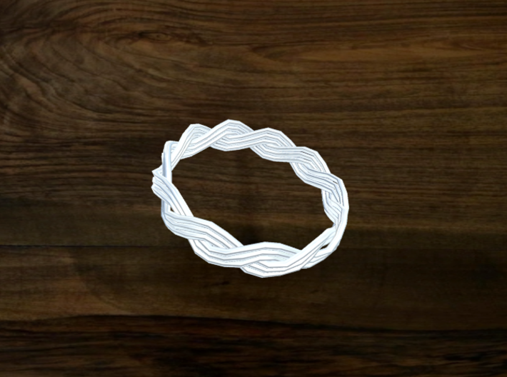 Turk's Head Knot Ring 2 Part X 11 Bight - Size 11. 3d printed