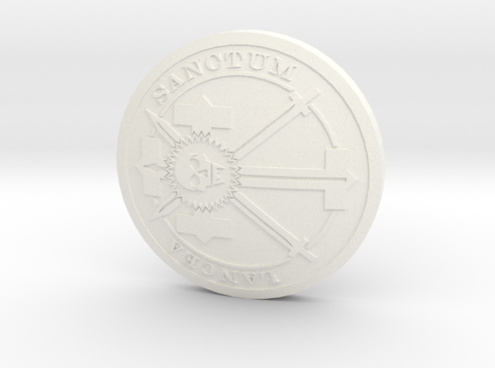 Lacea Button 3d printed