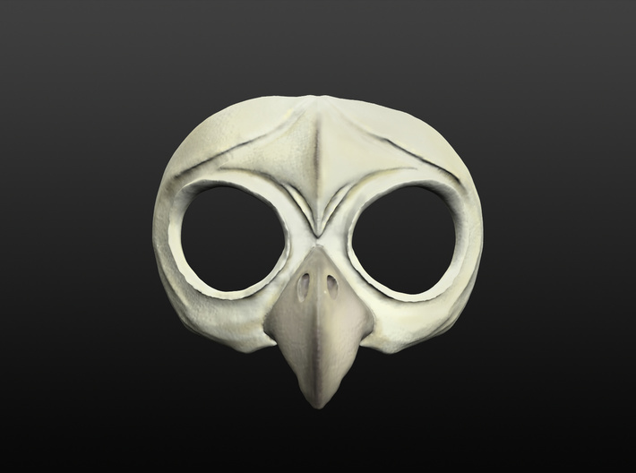 Owl Mask 3d printed front view