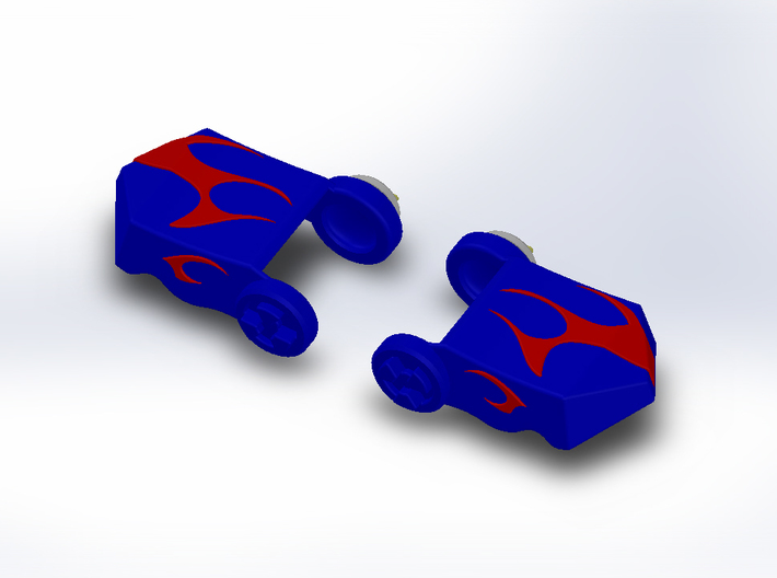 Shoulder Pads for Evasion Mode Optimus Prime 3d printed Painting Image 2
