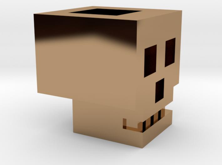 SquareSkull Lanyard Bead 3d printed
