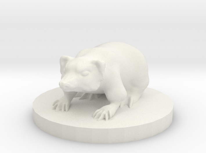 Small Badger Miniature 3d printed