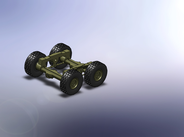 Faun SLT 50 Elefant 1:160 3d printed wheels