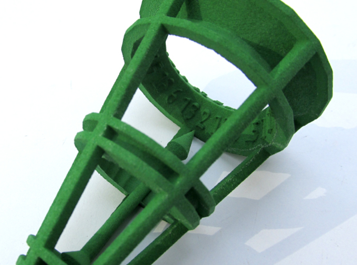 Rolling Bell Die20 3d printed In Green Strong & Flexible Polished
