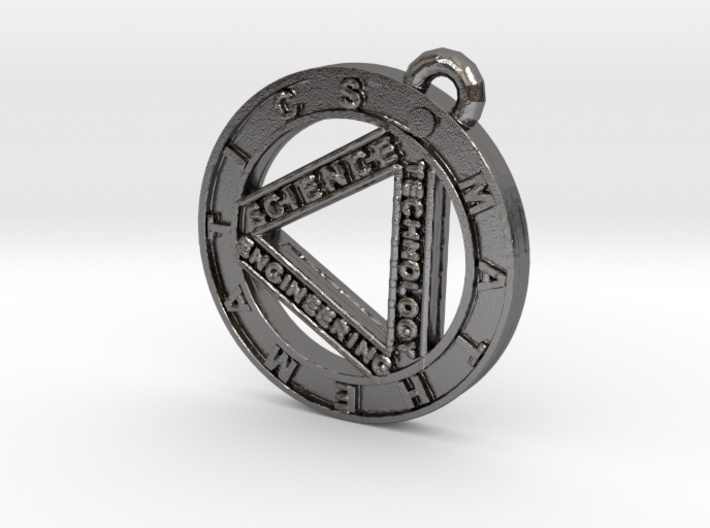 STEM Circle Pendant 3d printed
