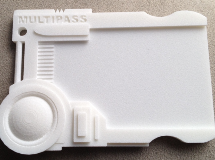 Multipass From Fifth Element #props 3d printed Printed in White Strong Flexible