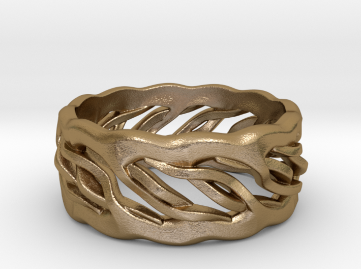 Earth Weave Ring (select a size) 3d printed