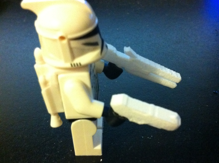 Custom weapon system pack for Lego minifigs 3d printed Add a caption...