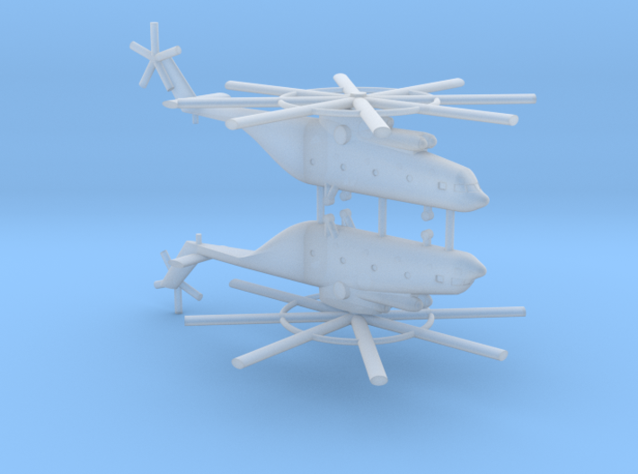 1/700 Mi-26 Halo Helicopter (x2) 3d printed