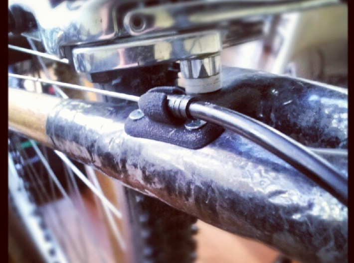 Bicycle Cable Stop 20mm - Bamboo / Carbon Frame 3d printed
