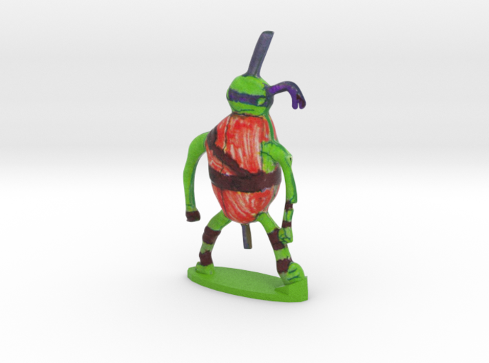 Kids Drawing into 3d Figurine : Ant Warrior 3d printed Custom Kids Drawing