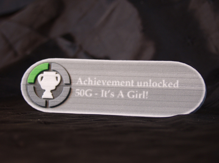 Achievement It's a girl 3d printed