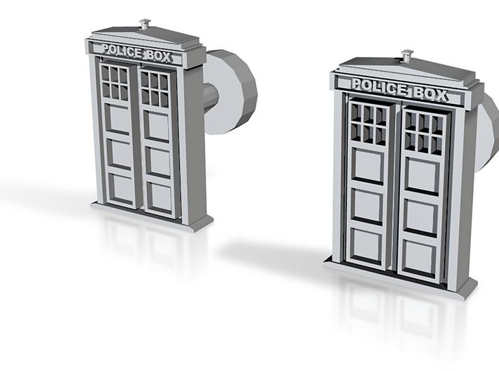 Tardis Door Cufflinks #Dr_Who 3d printed