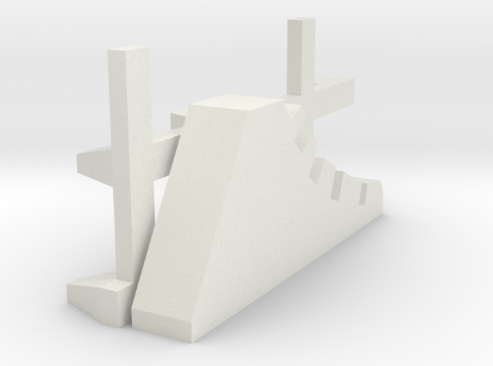 1-144 Scale Road Block Dragon Teeth (needs 2) 3d printed