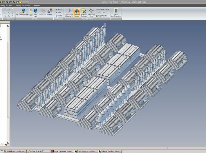 HO Lobster Trap Round Top 24 Pack 3d printed