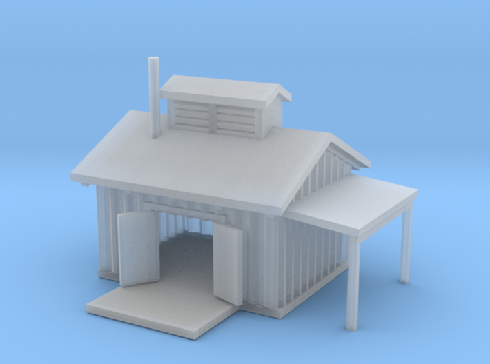 Railroad Shed 3d printed