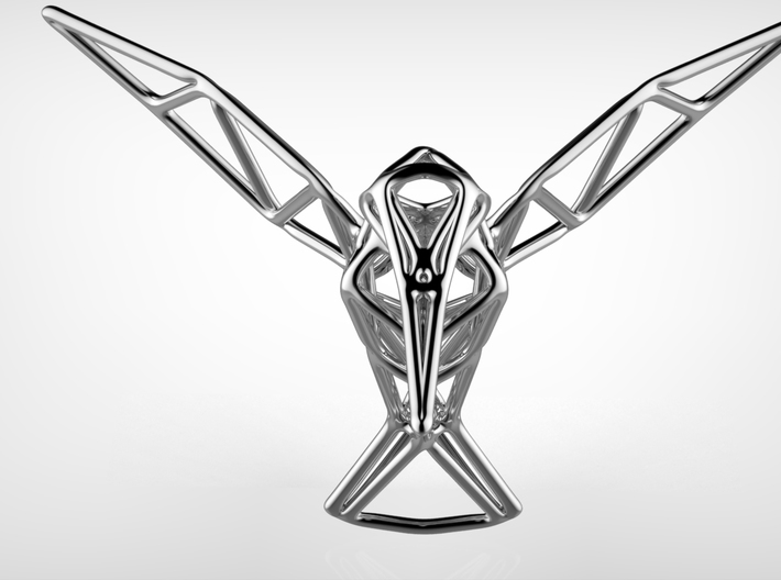 Hummingbird 3d printed Hummingbird Polished silver