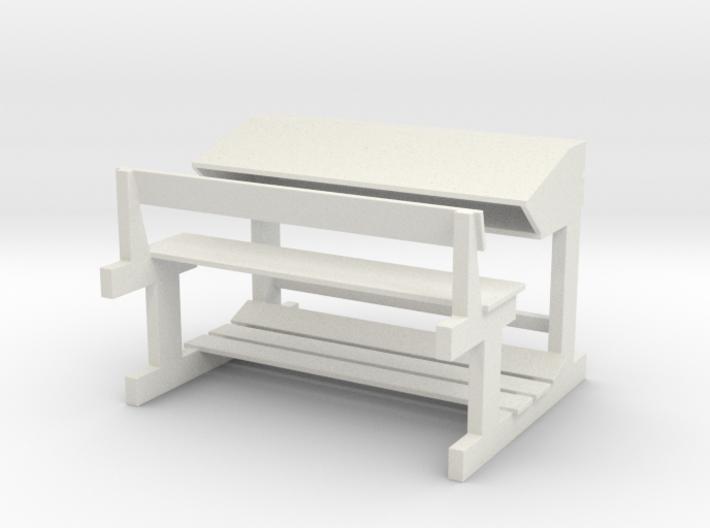 Bange (Albanian school desk) - 1:100 3d printed
