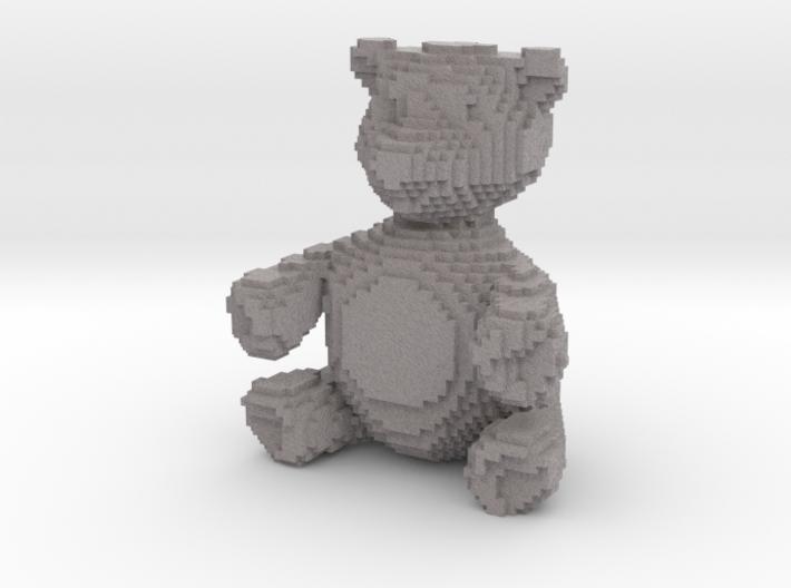 """Sand Microcube Bear (2"""" tall) 3d printed"""