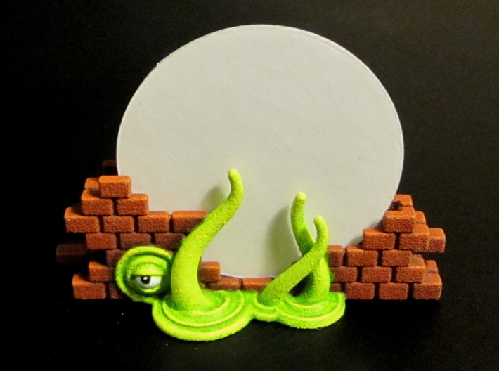 Gate Holders (6 pcs) - Arkham Horror 3d printed Hand-painted White Strong Flexible (front view). 40mm disc for scale.