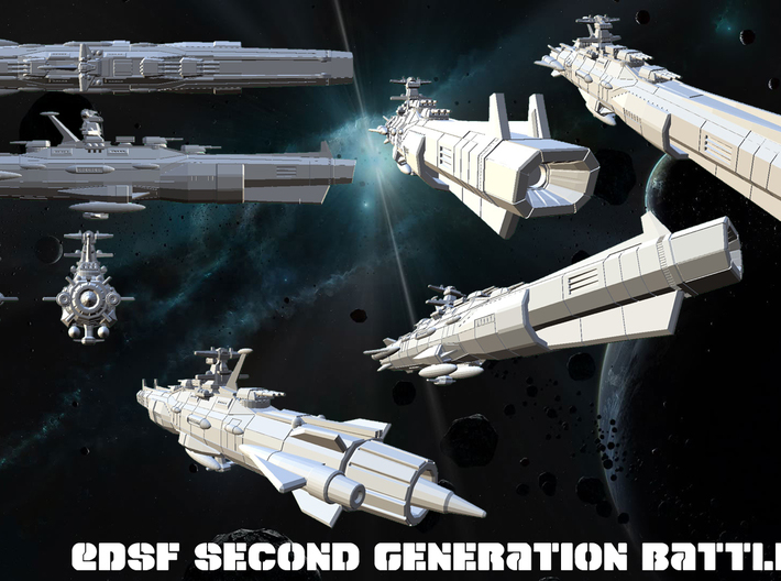 EDSF Second Generation Battleship Mk3 3d printed