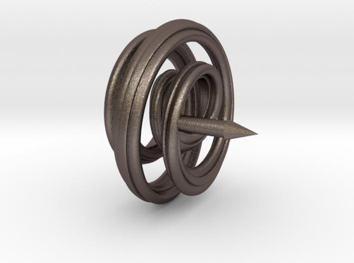 Mobius Spiral Tie Tack Pin 3d printed