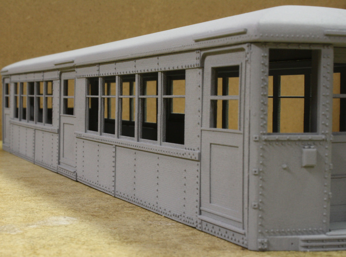 Baldie Square Window Side Combination 3d printed Assembled side, primed