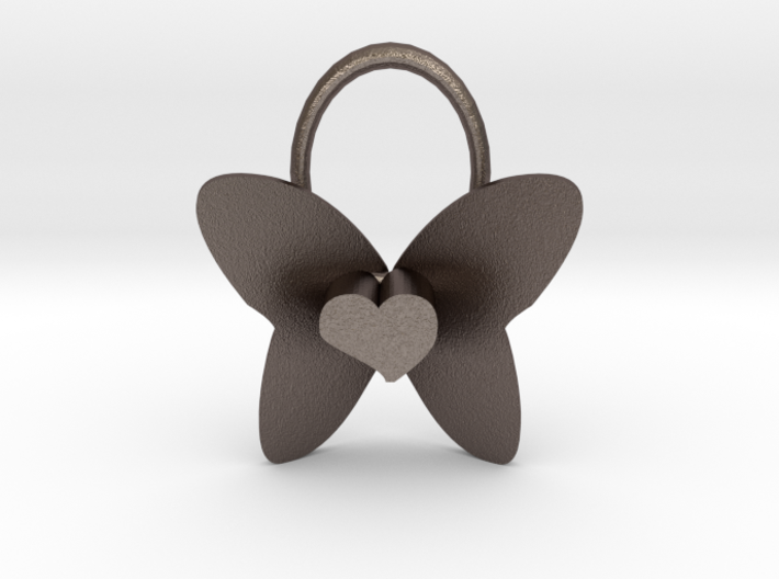 Cute Heart Butterfly Pendant 3d printed