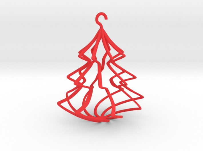 Wireframe Christmas Tree 3d printed