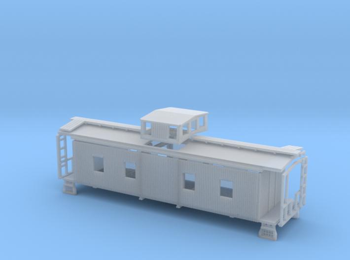 N Wood Caboose Southern Railway Style 3d printed