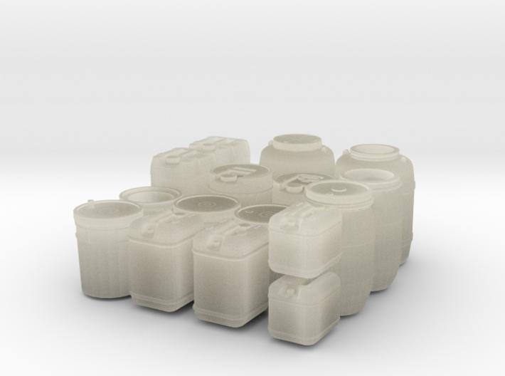 large liquid container set (1/35 scale) 3d printed