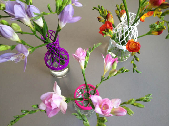 Tower Vase for jar size:82 (6 leads) 3d printed assorti vases