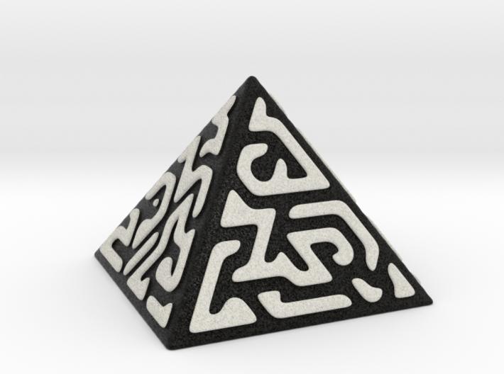 Glyph Pyramid (black + white) 3d printed