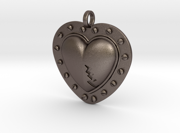 Steampunk Heart Pendant 3d printed