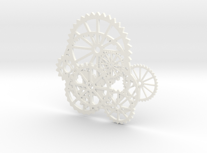 Gear Necklace 0001 3d printed